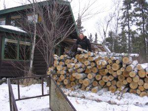Lark Lake Cabin Firewood.