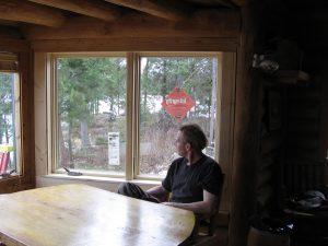 New  Casement Windows at Lark Lake Cabin