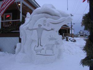 WINTER FEST SNOW CARVING